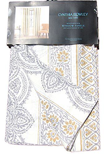 Cynthia Rowley Window Panels Set Of 2 Large Medallions Damask. Cynthia Rowley Bedroom Curtains   Curtains Design Gallery