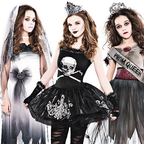 zombie girls halloween costumes - 4 Girls Halloween Costumes