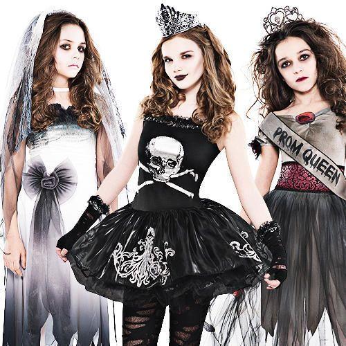 zombie girls halloween costumes - 4 Girls Halloween Costumes