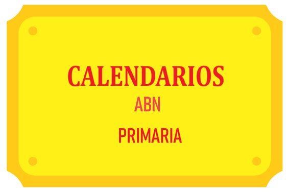 CALENDARIOS ABN PRIMARIA