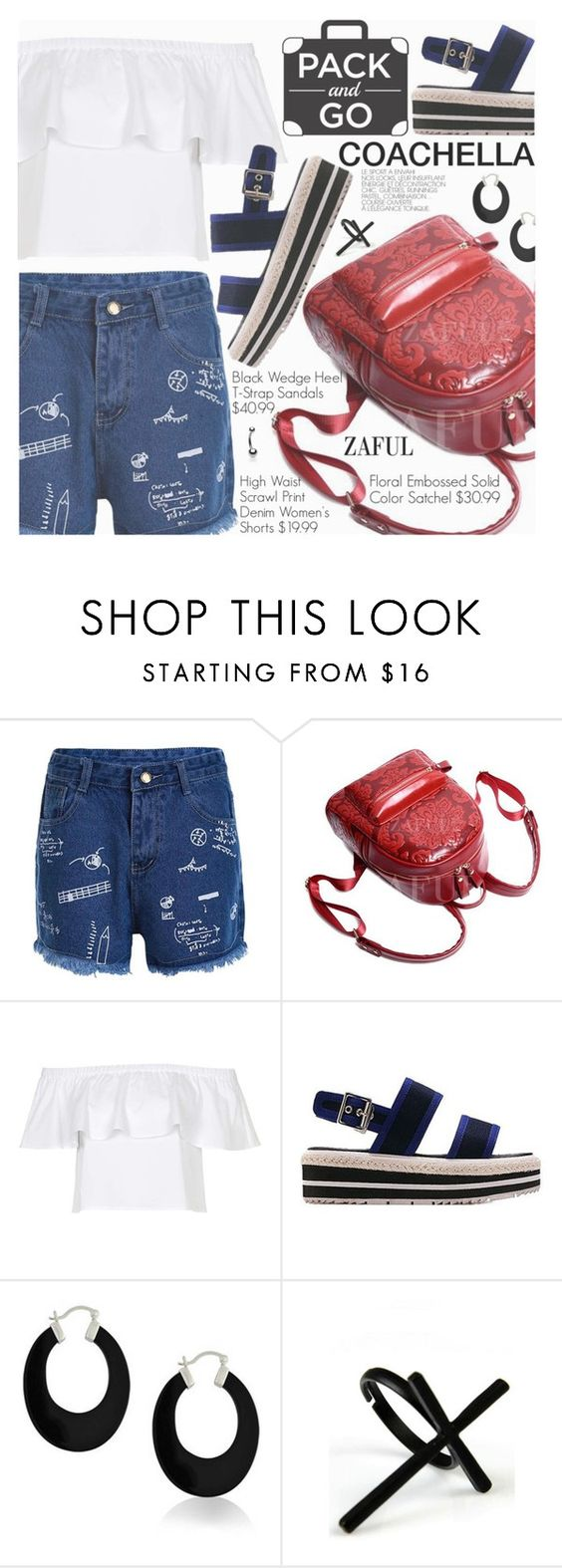 """""""Pack for Coachella!"""" by pokadoll ❤ liked on Polyvore featuring Topshop, Bling Jewelry and Emi Jewellery"""