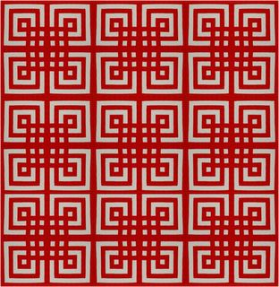 Quilt Inspiration: Free pattern day! Red and white quilts (part 1).  True Lover's Knot by Mimi Shimp.