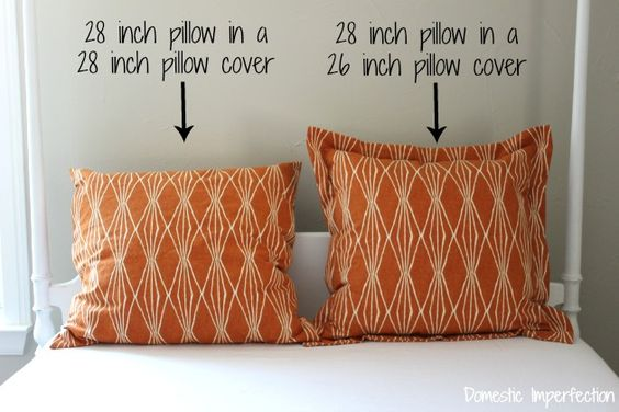 Why you should use cushion pads that are larger than the cushion cover.  The larger pad gives a nice plump look to the cushion