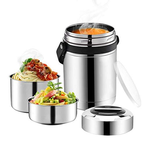 Thermal Insulated Lunch Box Food Container Stainless Steel Thermos Bento Box Jar