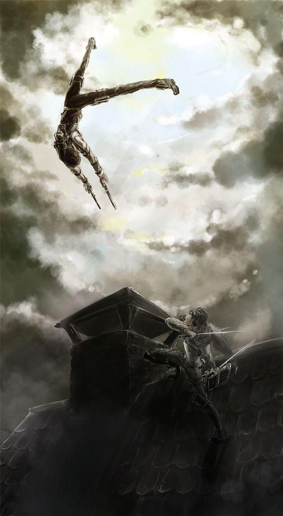 進撃の巨人空中戦