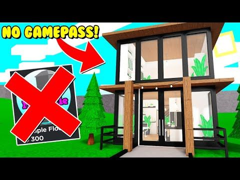 I Made A Two Story House Using No Gamepasses In Bloxburg Roblox Youtube Cute House Story House Canvas Painting Diy