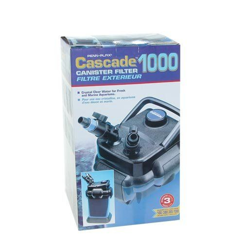 $149.99-$149.99 Cascade® 1000 Canister Filter for up to 100 Gallon Aquariums, 265gph - Cascade® Canister Filters from Penn Plax® offer heavy-duty multi-stage external filtration for your fresh or salt water aquarium. The Cascade® 1000 Canister Filter can handle aquariums up to 100 gallons efficiently providing up to 265 gph of flow. These filters allow you to combine the benefits of several types ...