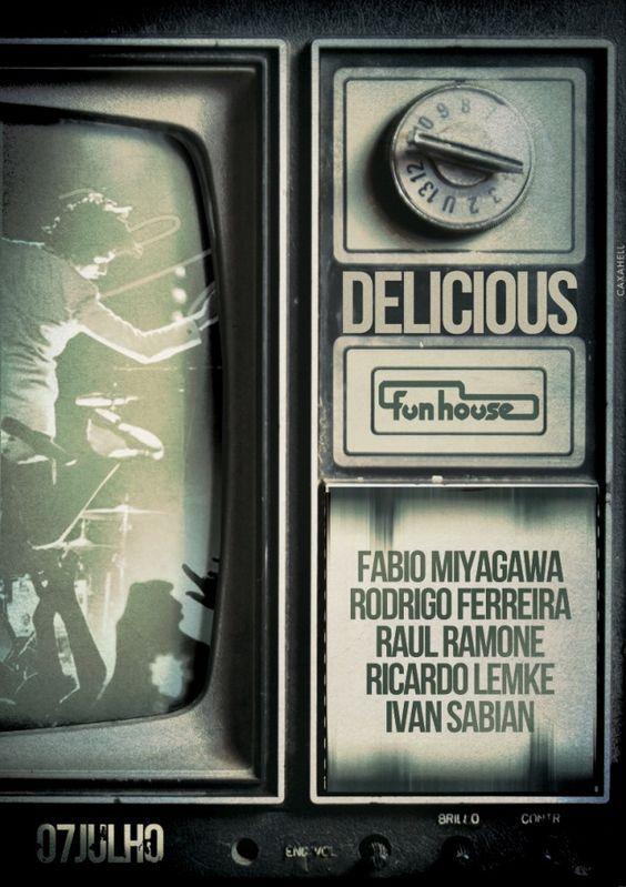 Sábado tem festa DELICIOUS, na Funhouse, com Fabio Miyagawa, Raul Ramone e Rodrigo Ferreira.