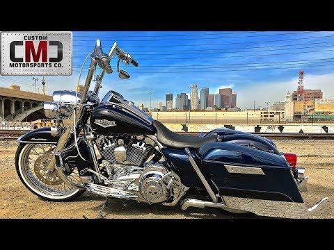 Cmc Motorsports 2014 California Gangster Style Big Blue Pearl Harley Davidson Road King Youtube Harley Davidson Motorsport Road King