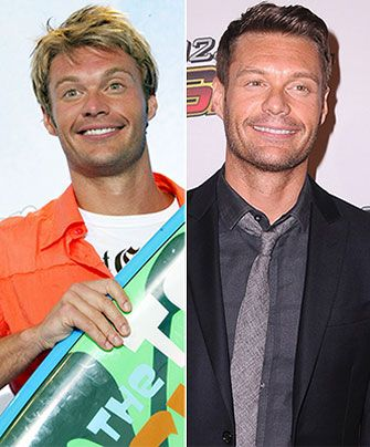 Blonde highlights, tan skin and a casual look with a surfboard. Or dark suit and tie with a shorter darker do!