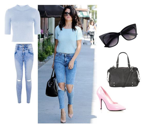 """""""THE LOOK FOR LESS: SELENA GOMEZ STREET STYLE"""" by emyllii on Polyvore featuring Pleaser, maurices, Topshop, StreetStyle, selenagomez, summertofall and StreetChic"""