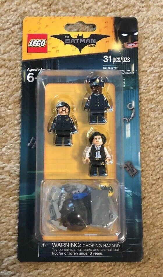 LEGO 853651 The Batman Movie Gotham Police Minifigure Accessory Set 31pcs New