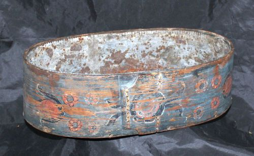 Antique Stiched Painted Bentwood Oval Brides Pantry Shaker Style Box Planter   eBay