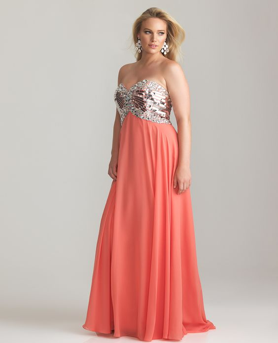 vintage plus size clothing | ... Plus Size Prom Dress - Unique ...