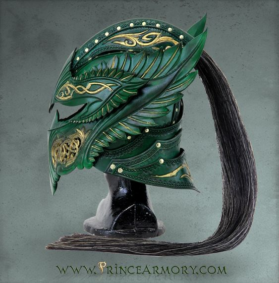 Green Elven Knight Helmet by Azmal.deviantart.com on @deviantART: