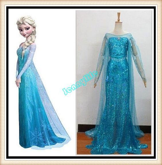 Frozen Elsa Dress Snow Queen Elsa Cosplay Elsa Frozen by Jennylife, $120.00: