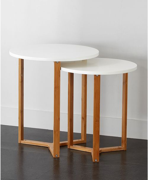 14 Stylish Nesting Tables Your Small Space Needs In 2020 Nesting
