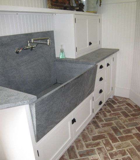 <3a sink like this within a laundry space... perfect for a multitude of uses ~can double as a potting/cutting sink, as well as a household pet bath station