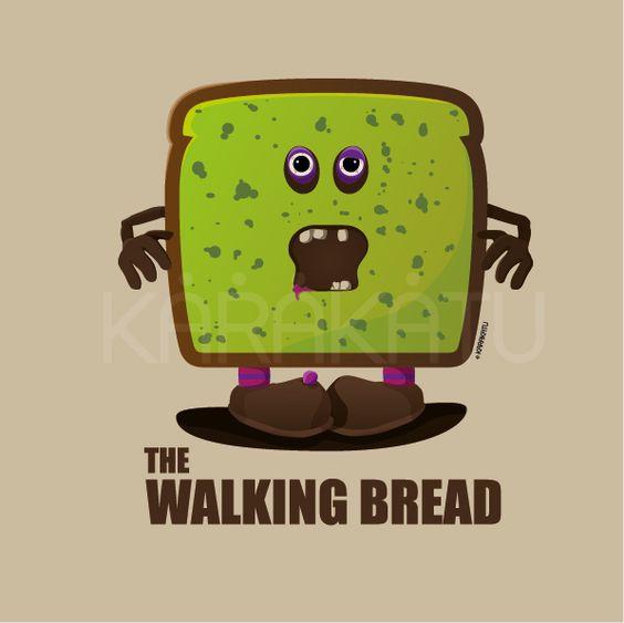 The Walking Bread - Camisetas con este y otros diseños en Karakatu.com