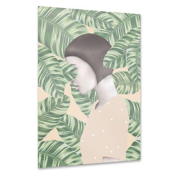 """artboxONE Poster 30x20 cm Abstrakt Menschen """"Flora"""" beige hochwertiger Design…"""