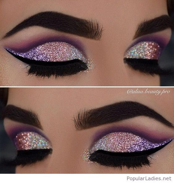 Awesome Colorful Eye Makeup With Glitter Makeup Eye Makeup