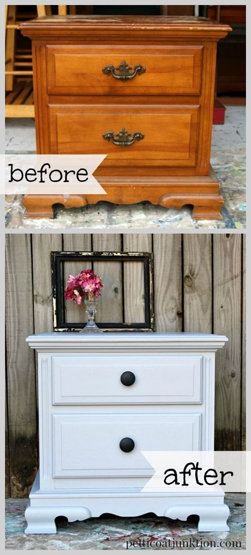 Decoupage Furniture Makeover With A