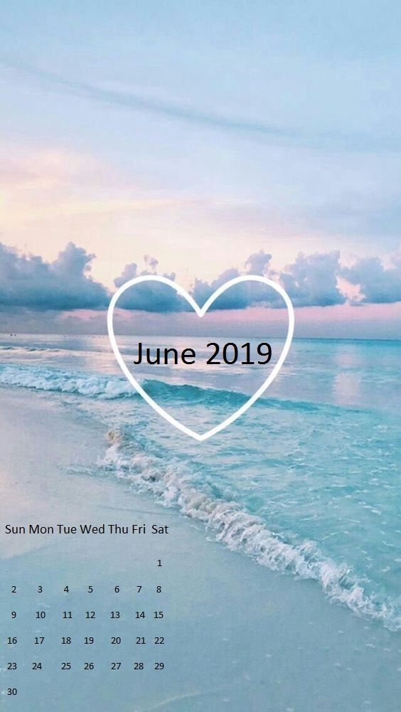 June 2019 Iphone Calendar Wallpaper Calendar Wallpaper Iphone