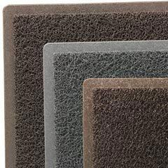 """Dirt Stop Outdoor Scraper Mat, Light-duty, 22"""" x 34"""", Chestnut color, EA by 3M. $42.04. Coiled vinyl loops scrape, trap and hide dirt and moisture from shoes minimizes tracking debris into building  Easy-to-clean crush-resistant vinyl just hose or shake clean Handles light foot trafficup to 50,000 people per year. Vinyl backing retains debris prevents water seepage. Manufacturers limited one-year warranty."""