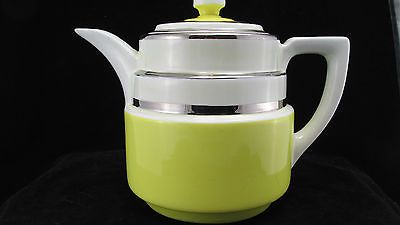 Great color! VINTAGE HALL's SUPERIOR RETRO ART DECO COFFEE POT