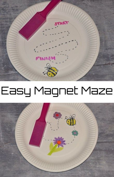 Magnets for Kids - make an easy magnet maze to demonstrate magnetism #craftsforkids #magnets #magnetsforkids #scienceforkids