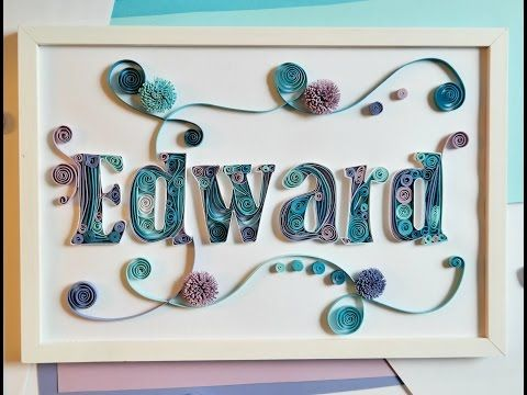 Letter Quilling Part II - YouTube