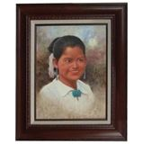 Young Navajo girl Jimmy Abeita kK