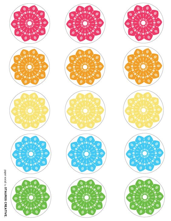 Cupcake toppers, Free printable and Cupcake