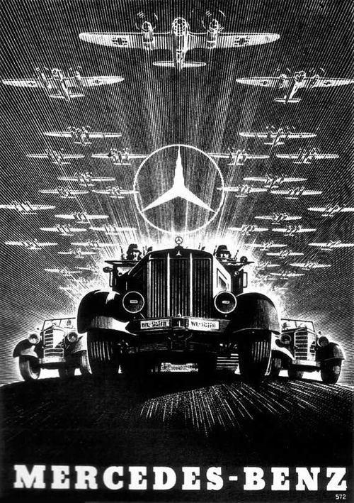 Historicalposters nazi mercedes benz promotional poster for Mercedes benz poster
