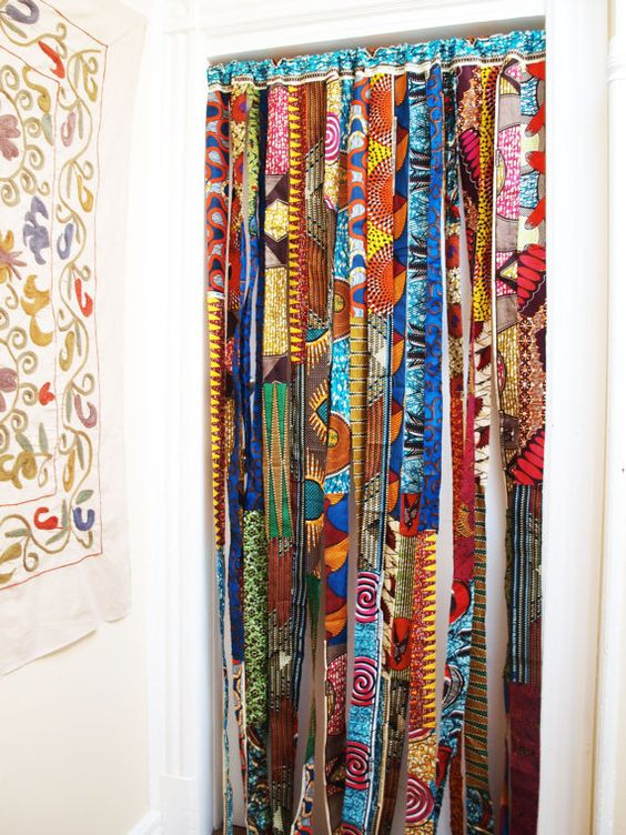Curtains Ideas batik curtain panels : BATIK Baifall Wax Print Panel or Room Divider | Africa Home Decor ...