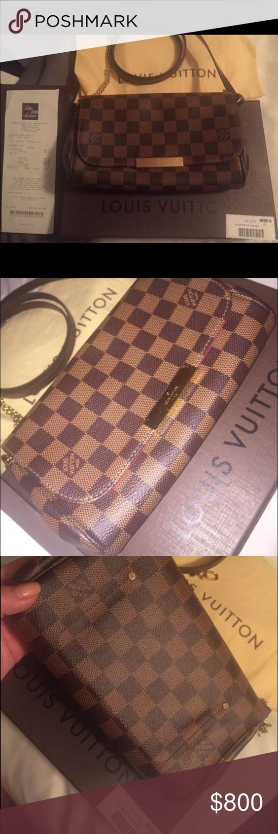 Louis Vuitton Favorite PM AUTHENTIC Louis Vuitton Favorite. A few scratches on front bc of the chain. Receipt from SAKS. Comes with all original packaging and dust bag. Make an offer we can negotiate. Paid ~870 with tax. Will take 700 with other payment options not on posh. ( fees) Louis Vuitton Bags Crossbody Bags