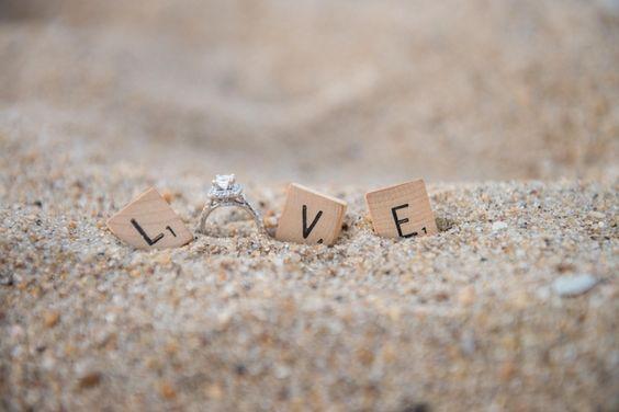 21 Creative Engagement Ring Photo Ideas: Beach wedding ...