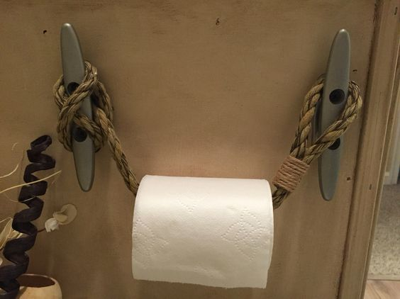 Toilets nautical and paper on pinterest - Beach toilet paper holder ...