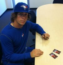Colby with the Blue Jays