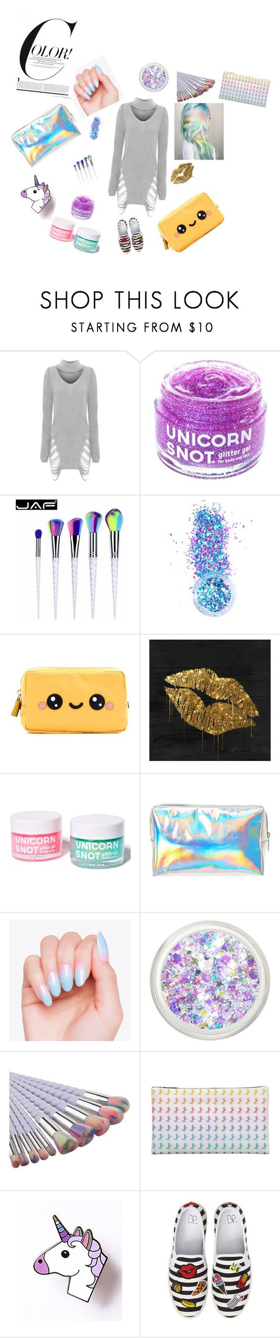 """#unicorns"" by sanyanagpal-1 on Polyvore featuring WearAll, FCTRY, In Your Dreams, Anya Hindmarch and BP."