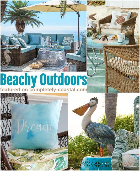 Pier 1 Outdoor Summer Decor Furniture With A Coastal Beach Vibe
