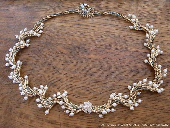 """Necklace """"Golden twist"""" - 1"""
