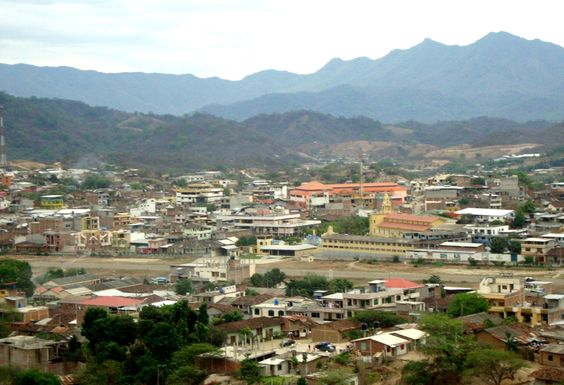 The town of Macará, Ecuador, in the mountains near the Peru border.