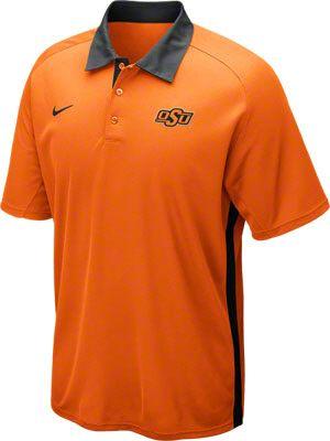 Oklahoma state cowboys orange nike football coaches for Soccer coach polo shirt