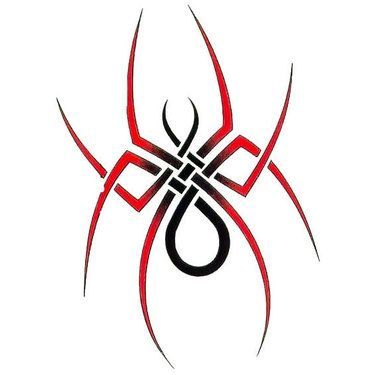 Red Simple Tribal Spider Tattoo Design Spider Tattoo Simple Tribal Tattoos Tribal Tattoo Designs