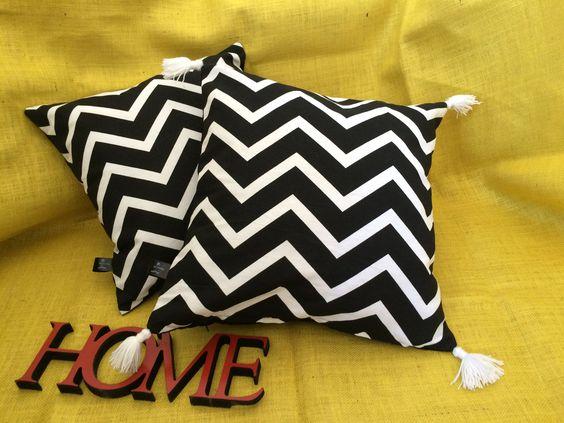 Pillows - Black and White - Borlas- Decoration - Let Design https://www.instagram.com/let.design/