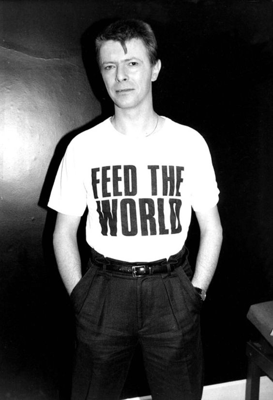 Image result for BOWIE 1985 FEED WORLD