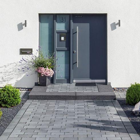 Eingangsbereich außen gestalten treppe  Belpasso Grigio brillant Hauseingang | Home | Pinterest ...