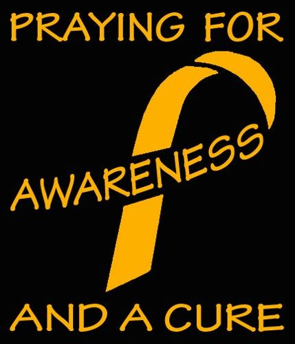Childhood Cancer In Memory Gold Ribbon Vinyl Decal - Can Be Customized
