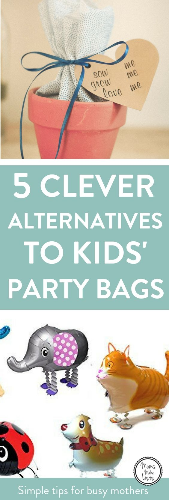 Alternative Party Bag Ideas For Kids Party Bags Kids 1st Birthday Party Bags Childrens Party Favours